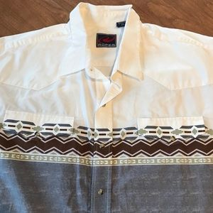 Roper Button Down Shirt Sleeve Shirt